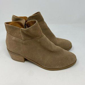 crown vintage ankle boots sz 8 tan